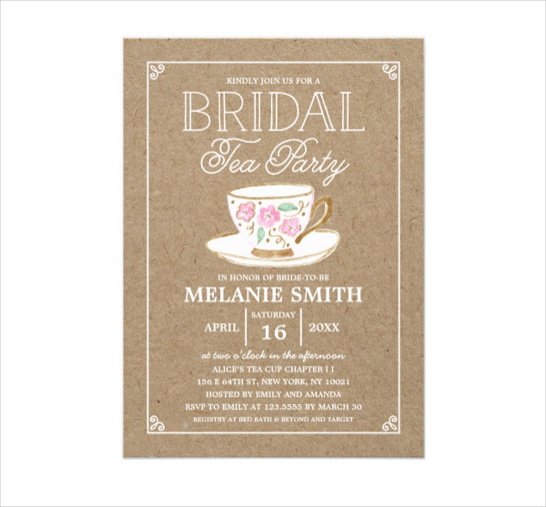 Rustic Modern Tea Party Card