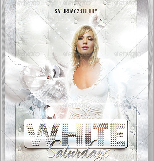 23 White Party Flyer Templates Free Premium Download