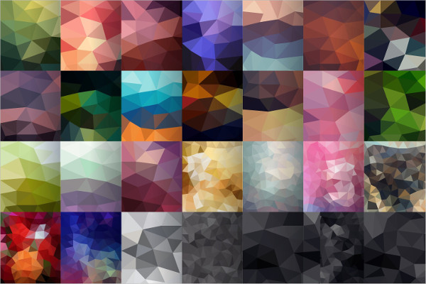 Set Of 60 Polygonal Backgrounds