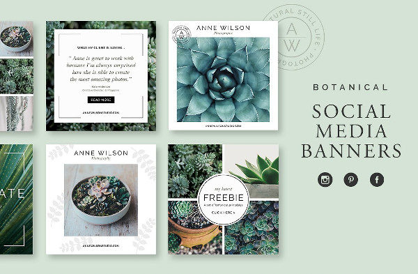 Botanical Social Media Banner Pack