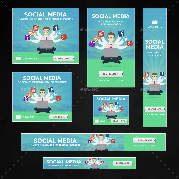 Social Media Marketing Banners