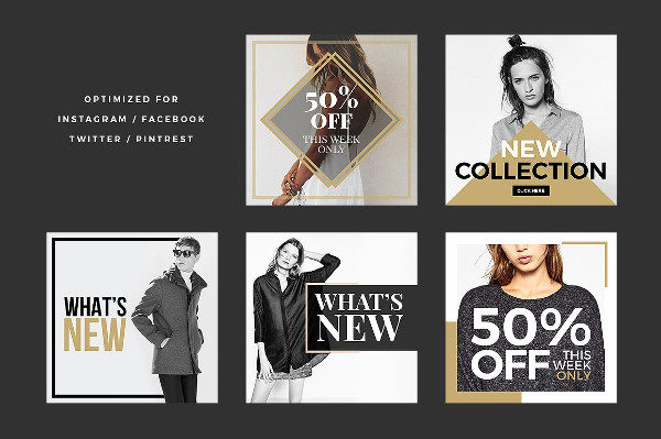 Fashion Social Banners Pack