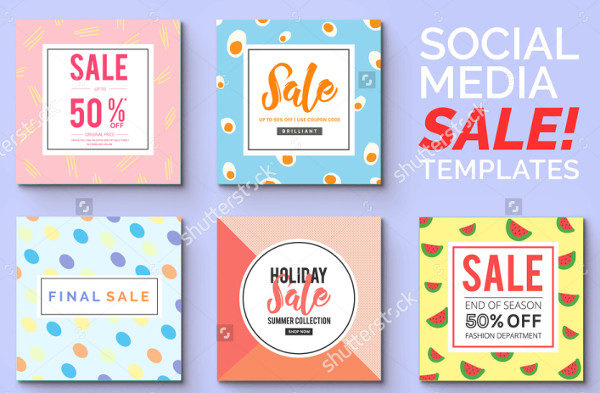 Stylish Social Media Sale Banners