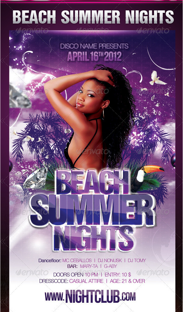 Beach Holiday Nights Flyer Template