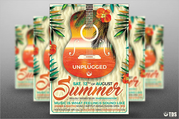 Exotic Summer Unplugged Flyer Template