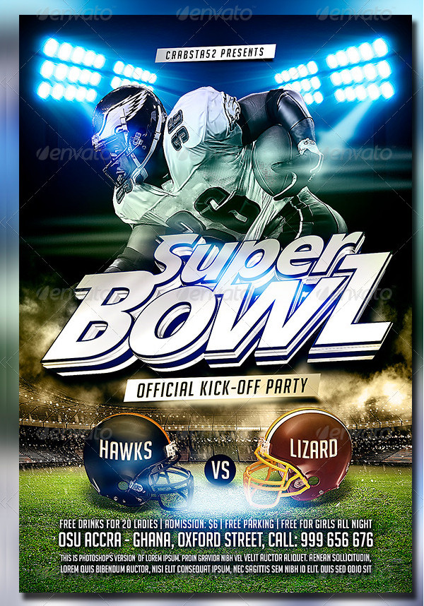 Super Bowl Flyer Template