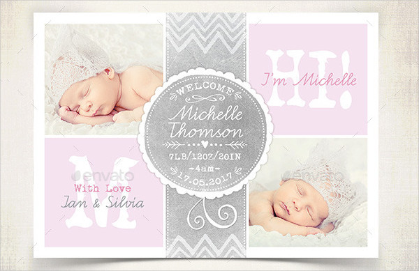 Birth Announcement Template 23 PSD AI EPS Format Download – Baby Announcements Templates