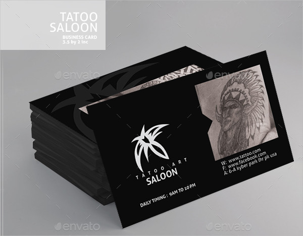 Tattoo Business Cards Design