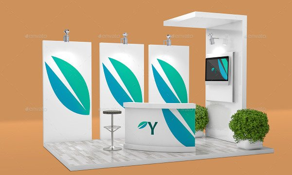 Exhibition Booth Vector Free Download : Booth mockups free psd ai eps vector format