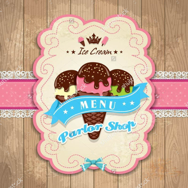 Attractive Ice Cream Bar Menu Template