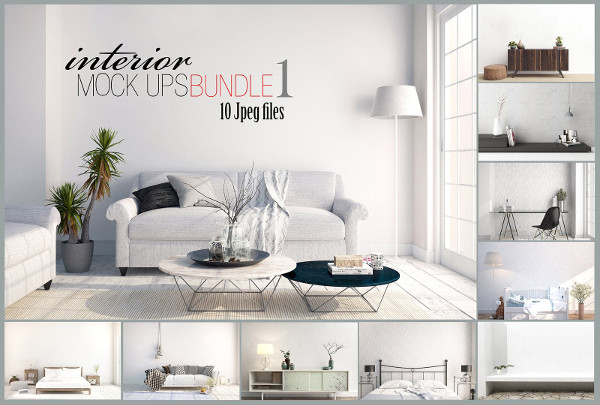 Unique Interior Mockups Bundle