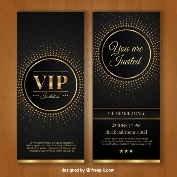 VIP Invitation Template Free Vector