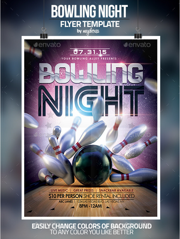 bowling flyer template