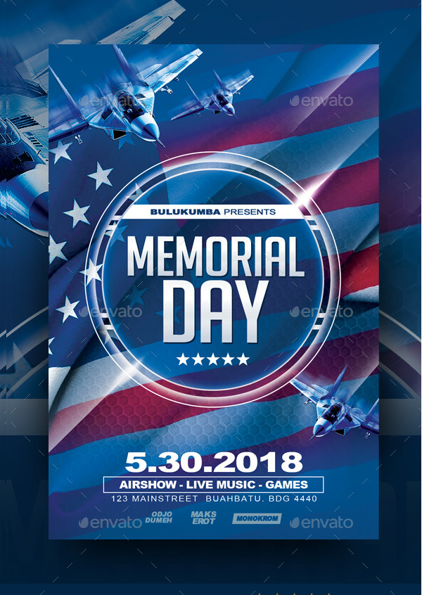 Best Memorial Day Flyer Template