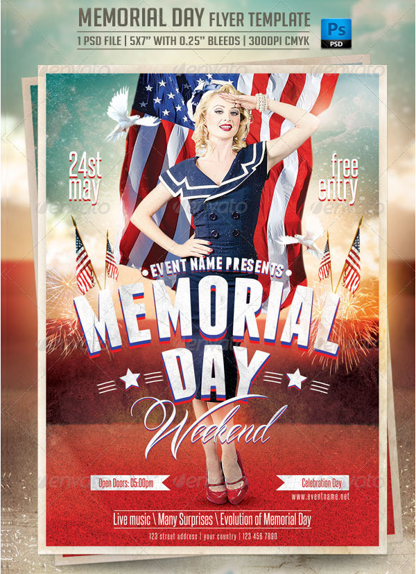 Vintage Memorial Day Advertisement Flyer