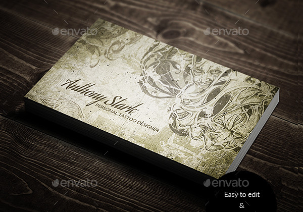 17+ Tattoo Business Card Templates - PSD, AI, EPS Format Download