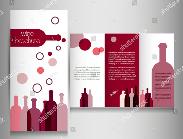Vintage Wine Party Brochure Design