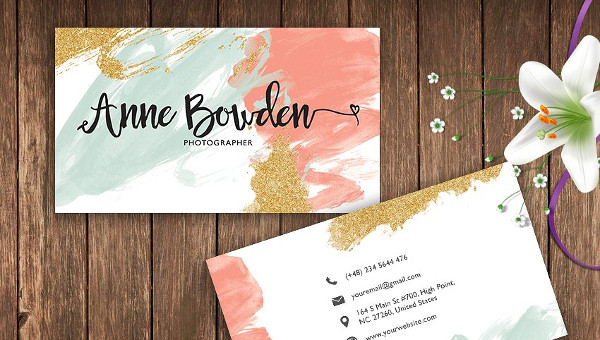 29 watercolor business card templates free premium download friedricerecipe Gallery