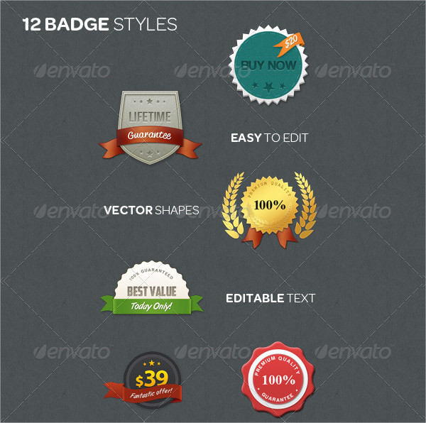 12 Web Badge Kit
