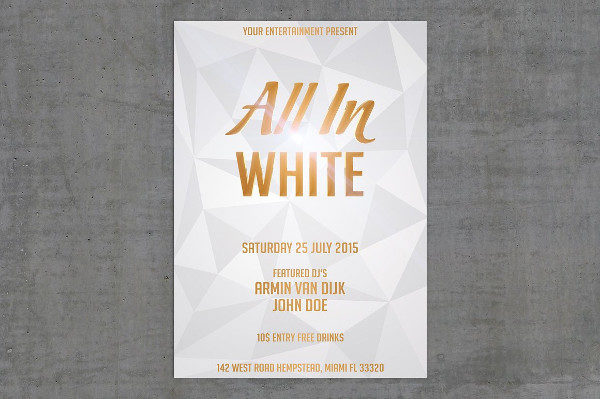 all white party flyer template free - Vaydile.euforic.co