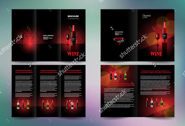 Set of Wine Business Brochures
