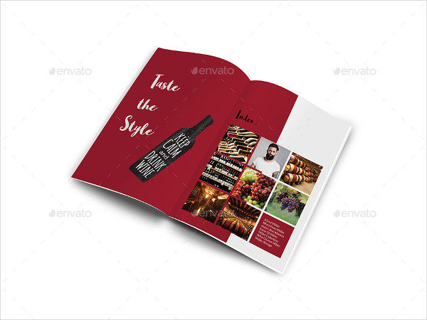 Elegant Wine Catalogue Brochure Template