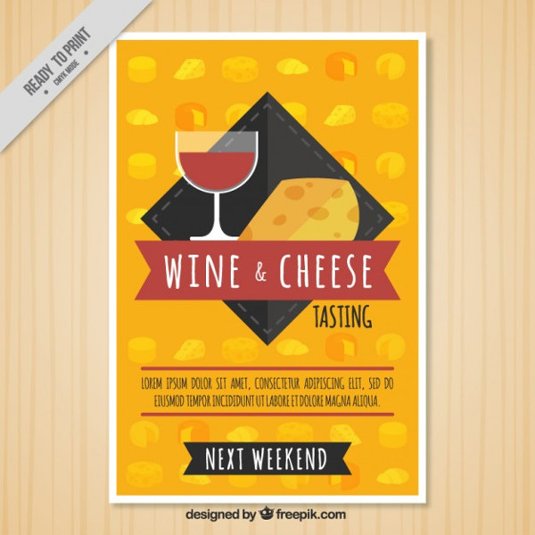 Wine & Cheese Brochure Template
