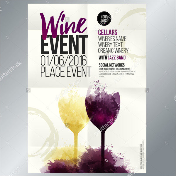 Wine Event Promotional Brochure