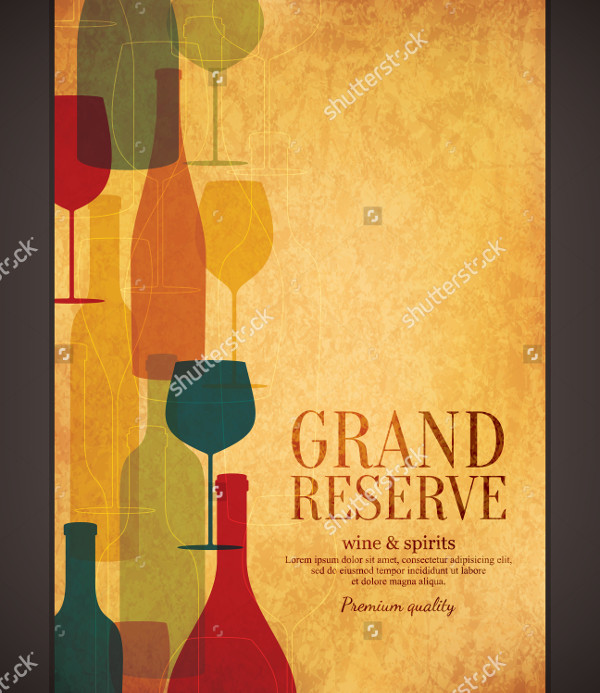 Wine Vector Design Brochure Template