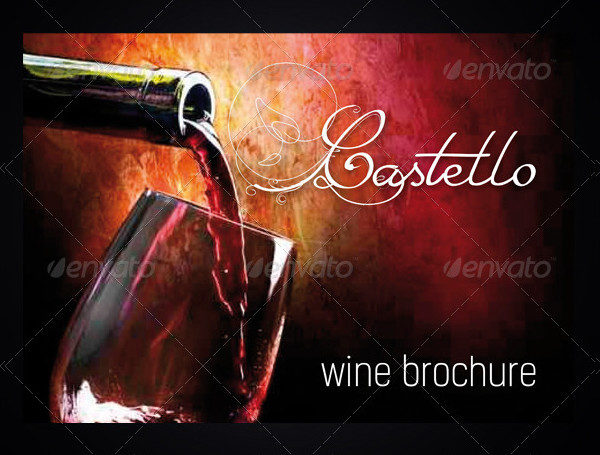 Popular Wine InDesign Brochure