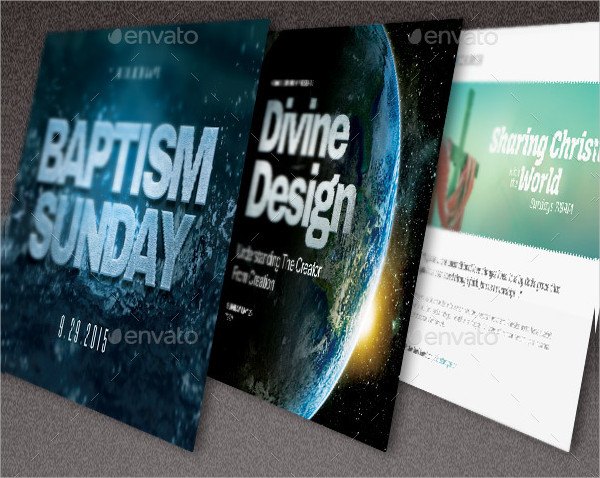 Baptize Church Flyer Templates Bundle