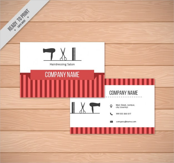Free Barber Shop Elements Business Card