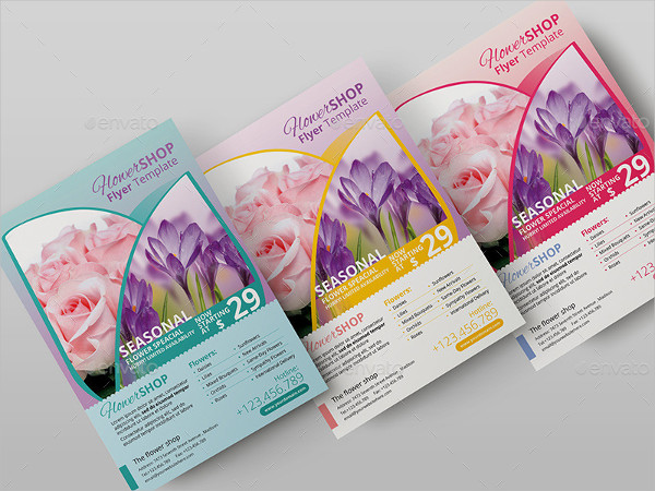 Print Ready Flower Store Flyer Template