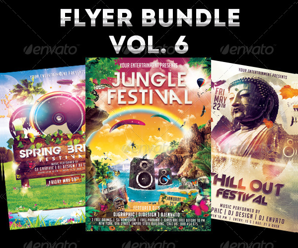 Big Jungle Festival Flyers Bundle