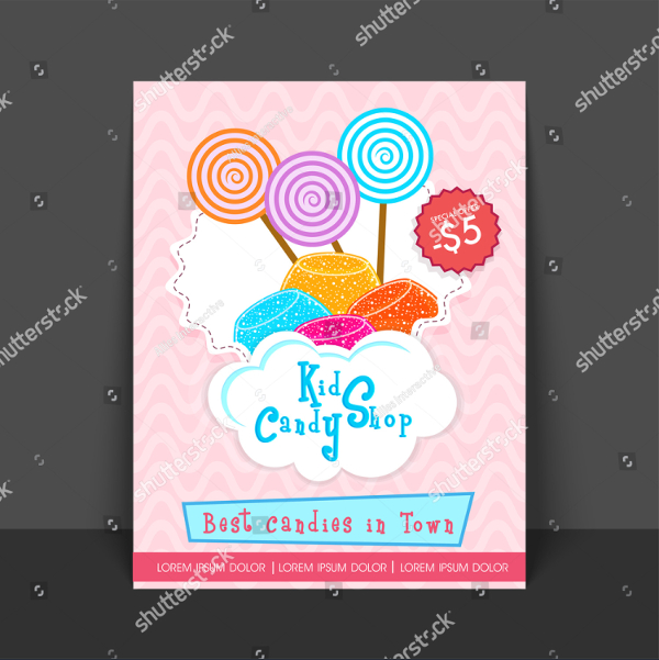 Candy Shop Flyer Template Design