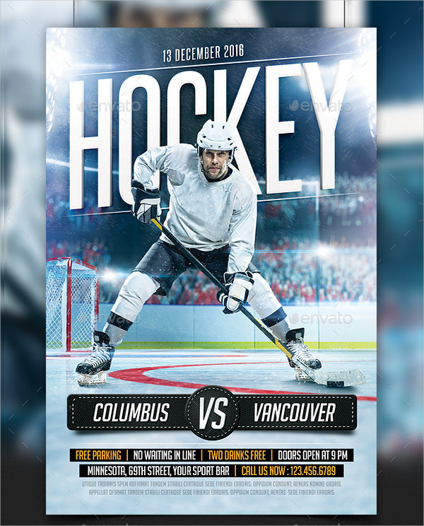 23+ Hockey Flyer Templates - PSD, AI, EPS, Vector Format Download