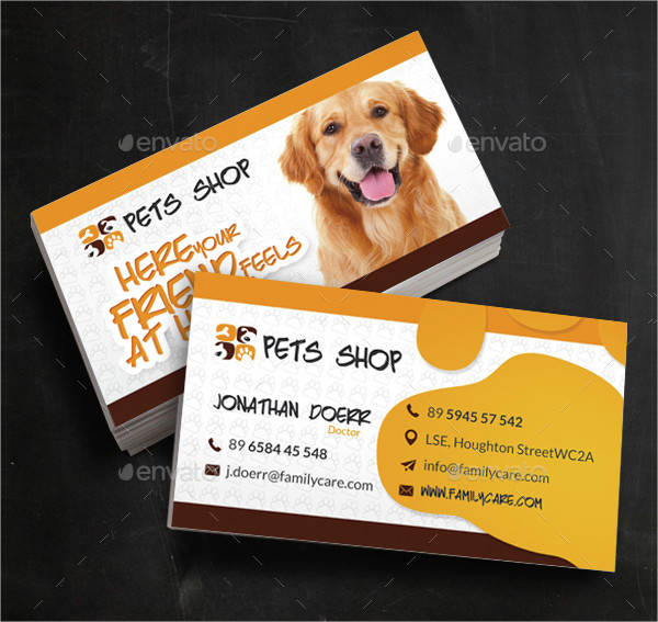 24 pet shop business card templates free premium download for Pet store business cards