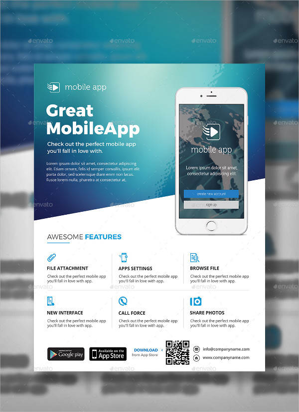 23  mobile app flyer templates