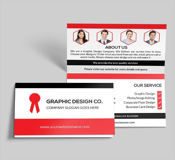 21 folded business cards free premium download corporate folded business cards reheart Choice Image