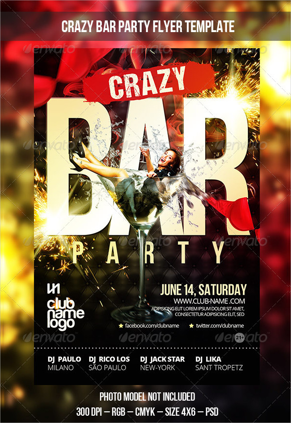 Bar Flyer Templates  Free  Premium Download
