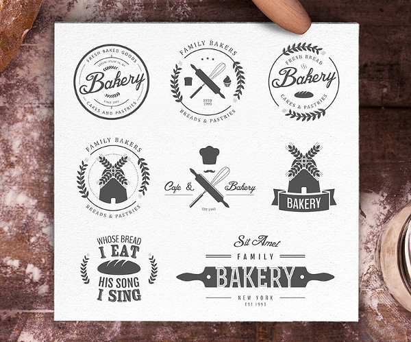 Editable Bakery Logos Bundle
