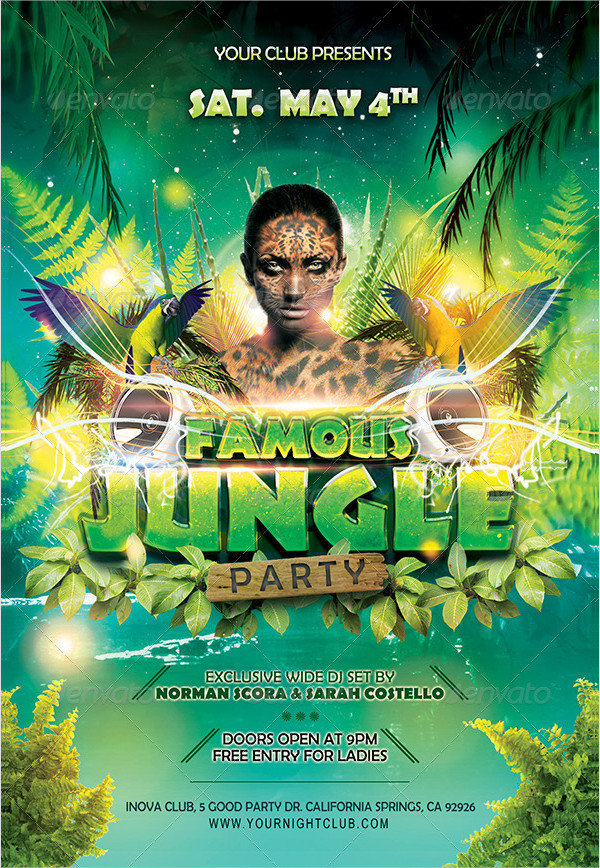 Famous Jungle Party Flyer Template