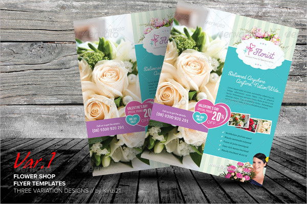 Perfect Flower Shop Flyer Templates