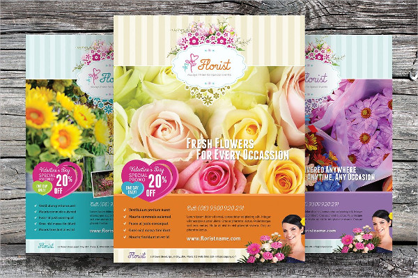 Unique Flower Shop Flyer Templates