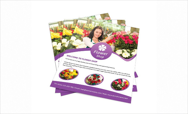 Attractive Flower Shop Flyer Template