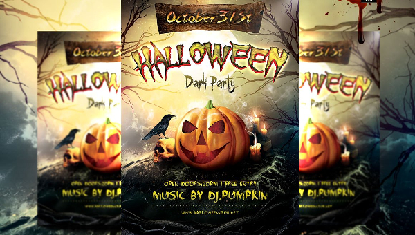 Halloween Party Flyer Templates  Free  Premium Download