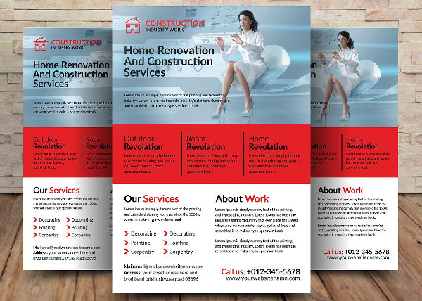 Home Construction & Renovation Flyer