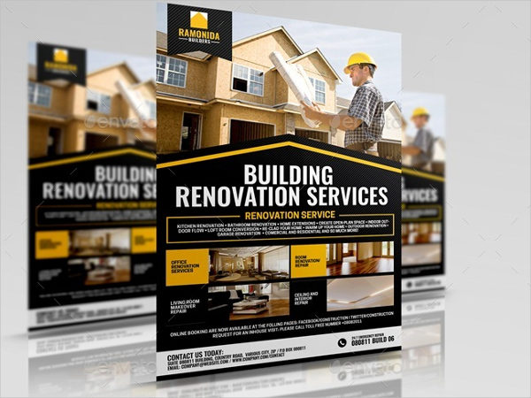 Home Renovation Service Flyer Template
