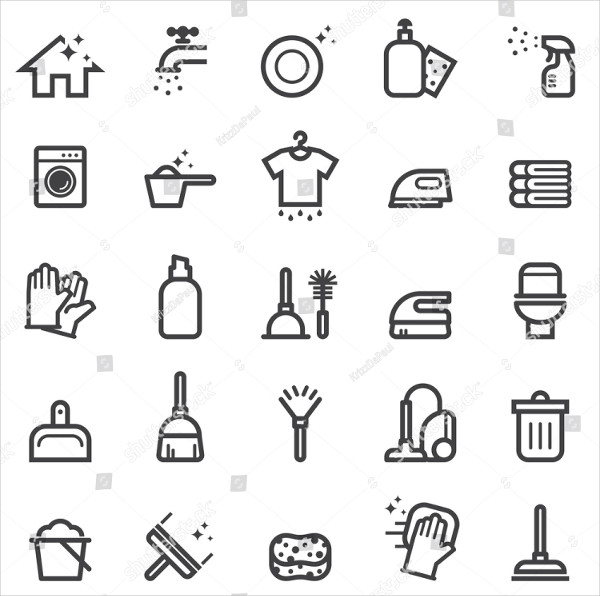Hotel Cleaner Icons
