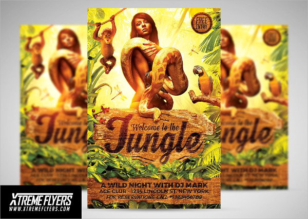 Jungle Wild Party Flyer Template